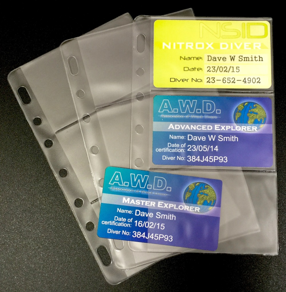 Scuba Certification Card Holders For Your
